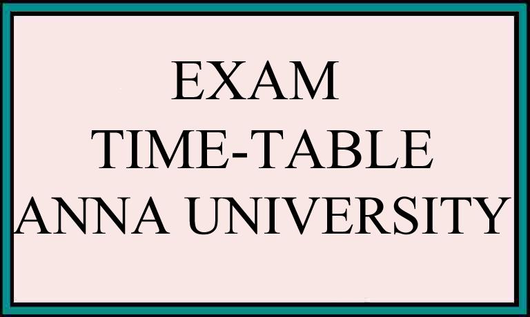 Anna University semester 1 Time Table Regulation 2017